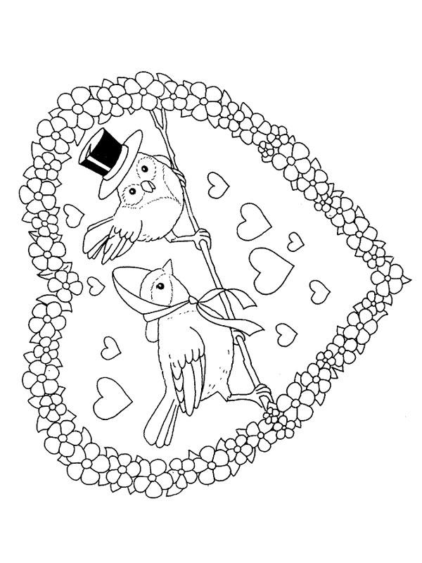 Valentijn Paarden Kleurplaat Bojanke Za Decu Dan Zaljubljenih