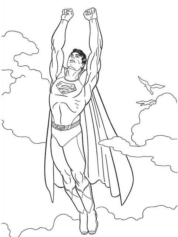 Slike Za Bojenje Supermen